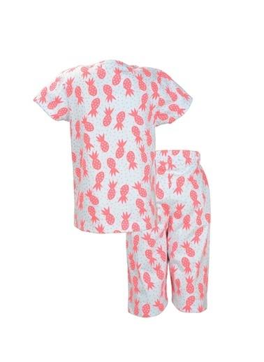 Zeyland Beyaz Pembe Ananas Pijama Takımı (1-6yaş) Beyaz Pembe Ananas Pijama Takımı (1-6yaş) Beyaz